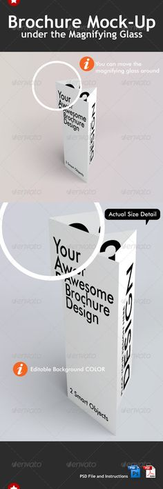 Folded Brochure Mock-Up Brochures, Mockup and Font logo - folded brochure