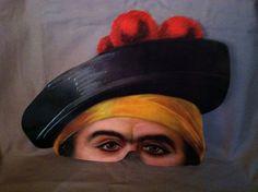 Lifelike paper half mask of British Pirate by ScarlettsFancies, $12.00