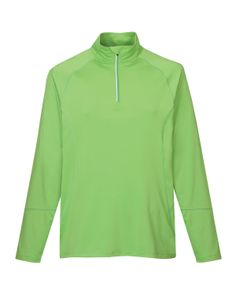 Men's Knit Quarter Zipper Jogging Pullover (88% Polyester 12% Spandex)  Tri mountain 659 #jogging #workout #pullover