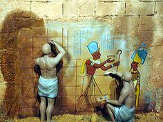 BELENES 2011.Metro Valencia.Egipcios pintando
