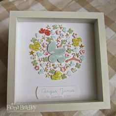 Baby boy shadow box $35 customised (+ postage Australia wide only) Just Spiffing - Fiona Bradley - Stampin Up