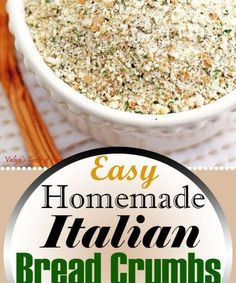 This Italian Bread Crumbs recipe is so easy to make at home. I sliced Homemade bread into very thin slices and dried the slices in the ove. Italian Bread Crumbs Recipe, Dry Bread Crumbs, Seasoned Bread Crumbs, Home Made Bread Crumbs, Bread Cast, Bread Mix, White Pizza Recipes, Sandwich Bread Recipes, Tao