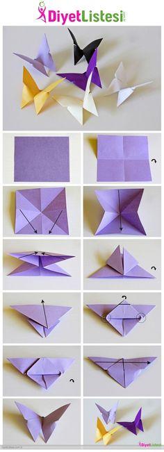 Kattan Kelebek Yapm  Origami Kelebek Katlama Sanat  Diyetlistesicomtr  Diyet Listesi  Zayflama  ok Diyetler    Hzl Kilo Verme