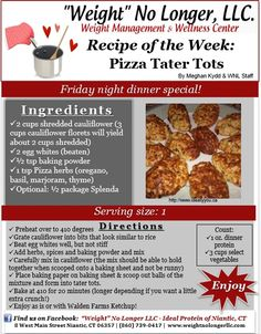 Craving for a slice of Pizza? Try WNL's newest recipe, Pizza Tater Tots...