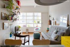 01-decoracao-apartamento-pequeno-integrado-moveis-coloridos