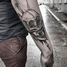 Inez Janiak draw tattoos - New Tattoo Models Skull Tattoos, Leg Tattoos, Arm Band Tattoo, Body Art Tattoos, Print Tattoos, Sleeve Tattoos, Cool Tattoos, Arm Tattoos For Guys, Sketch Style Tattoos
