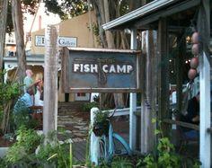 Fish Camp - Burns Court Sarasota Longboat Key, Fish Camp, Burns, Florida, Camping, Eat, Outdoor Decor, Campsite, The Florida