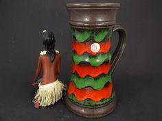 Große Vintage Keramik Vase/Krug von Ü-Keramik (Uebelacker) / Modell 1801 25 | West German Pottery | 60er von ShabbRockRepublic auf Etsy