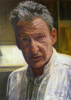 Selfportrait Lucian Michael Freud (1922 – 2011) was a German-born British painter. Known chiefly for his thickly impastoed portrait and figure paintings, he was widely considered the pre-eminent British artist of his time.His works are noted for their psychological penetration, and for their often discomforting examination of the relationship between artist and model. He was a grandson of Sigmund Freud