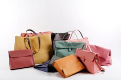 leather bags from RIEN.gr! handmade, pastel colors, made to be loved! www.rien.gr