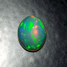 Natural Ethiopian Fire Opal Cabochon 1 Cts 9x7 MM Multi Color GOOD Quality A65 #UnitedGemstones
