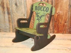 Personalized Puzzle Rocker with Deer by WorkHorseFurniture on Etsy