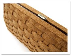 DIY cork wallet / clutch -- the idea and the weaving demo makes me want to try this with all kinds of materials!