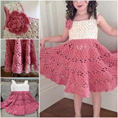 Vintage Crochet Dress FREE Pattern