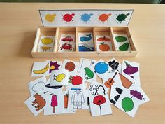 TEACCH-type manipulative material to play in a discriminatory way … - Kinderspiele Preschool Learning Activities, Toddler Activities, Preschool Activities, Kids Learning, Diy Montessori Toys, Emotions Preschool, Teaching Aids, Kids Education, Memory Games
