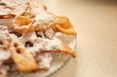 cròstoli. A traditional dessert around Carneval time! Must attempt to make...maybe.