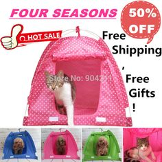2016 HOT SALE Wave point Dog Tent Folding portable cat dog house pet house bed kennel cage free shipping+gifts