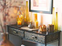 Decorate the Whole Room - Glittering Fall Table Setting and Centerpiece Ideas on HGTV