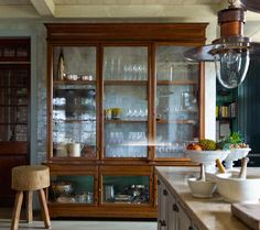 Inspiration for our old-house, DIY kitchen remodel… I love the idea of using…