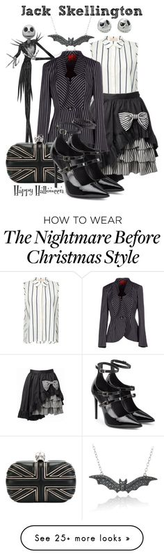 """Jack Skellington"" by laniocracy on Polyvore featuring Brock Collection, DB Designs, Burton, Vivienne Westwood Red Label, Alexander McQueen and Tamara Mellon"