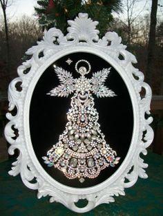 New for this 2013 Season Vintage Jewelry Christmas Tree Angel Art