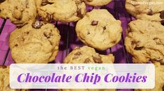 Get ready to lose your mind over how AMAZING these chocolate chip cookies are. Not only does this recipe produce the chewiest and most delicious vegan chocolate chip cookies EVER, but you can also safely eat the raw cookie dough because there are no eggs in it! Vegan recipes are awesome like that!