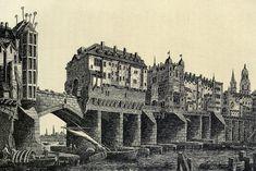 Old London Bridge, 1600.