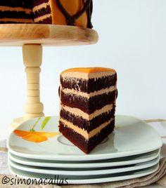 Cake Receipe, Chocolate Caramel Cake, Romanian Food, Romanian Recipes, Creme Caramel, Food Cakes, Nutella, Delicious Desserts, Mousse