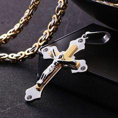 Stainless Steel Titanium Jesus Necklace