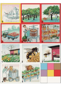 from tree to store, from bee to store, etc. Sequencing Cards, Story Sequencing, Community Workers, Community Helpers, Picture Comprehension, English Worksheets For Kids, Learning Arabic, Close Image, Pre School