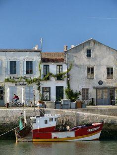 Fishing boat at the Harbour, Taken at Saint-Martin de Ré, Charente maritime, France, Best Places To Vacation, Best Vacations, Places To Travel, Places To See, Provence, Belle France, Poitou Charentes, Saint Martin, France Travel
