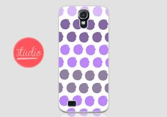 Purple WATERCOLORED POLKA DOTS - Samsung Galaxy s4, Galaxy s3