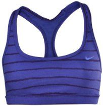 Nike Womens Dri-Fit Indy Racer Back Reversible Sports Bra-Navy/Green