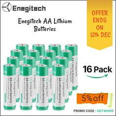 Shop these Enegitech 1.5V AA Lithium Batteries for Apple mouse, toys, etc. at an affordable price only at $23.99. Visit https://www.amazon.com/dp/B076MNQ16C to buy now. #batteries #lithiumbatteries #batteriesfortoys