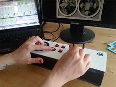 Homemade controller launching music loops and 3D visuals. http://dbr3d.blogspot.com.es/2015/04/homemade-controller.html