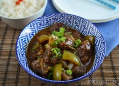 Slimming Eats Slow Cooked Spicy Asian Beef - gluten free, dairy free, paleo, Slimming World (SP) and Weight Watchers friendly