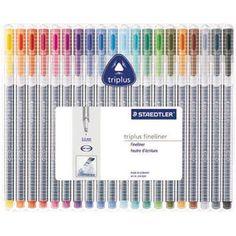 Caneta hidrográfica 0.3mm Triplus 20 cores 334SB20 Staedtler - Escrita & Corretivos - Kalunga.com