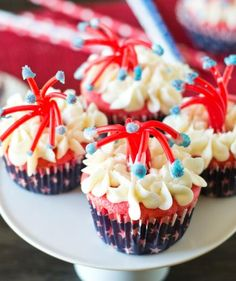 Twizzler Firecracker Cupcakes | These patriotic treats are the perfect way to sweeten your holiday.