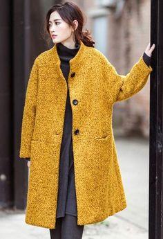 Winter Coats Women, Coats For Women, Sweater Jacket, Blazer Jacket, Wool Coat, Cool Outfits, Fashion Outfits, Womens Fashion, Fashion Line