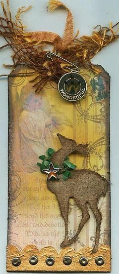 A Beautiful Tag inspired by Tim Holtz day 2--Silvia in Germany