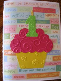 Cupcake card with a less distracting background