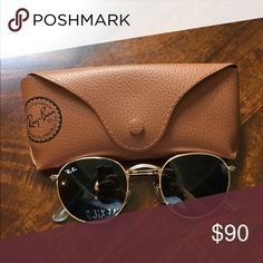 round frame raybans 100% authentic round frame rayban sunglasses with case included Ray-Ban Other