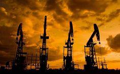 Pozos de extracción de petróleo.