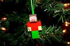 Minecraft Inspired Lego Christmas Ornament by LovingMyLegos, $11.95