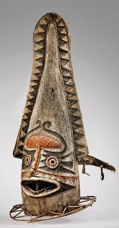 Eharo Mask - Papua New Guinea Arte Tribal, Tribal Art, George Grosz, Masks Art, Japanese Prints, Ocean Art, Papua New Guinea, African Art, Traditional Art