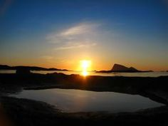 Greenland and Norway: Midnight Sun. This is as low as the sun goes, this time of the year, and will not set until July 21. - P J Hansen/artic/flickr.com Creative Commons License