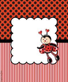 Baby Ladybug, Ladybug Party, Borders For Paper, Borders And Frames, Lady Bug, Birthday Party Invitations, Birthday Cards, Ladybug Costume, Cute Frames