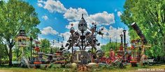 Forevertron is the world's largest scrap metal sculpture. Dr. Evermor Sculpture Park is located in North Freedom, 5 miles south of Baraboo, WI.