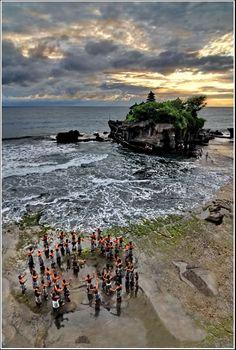 Kejak-Dance at Tanah Lot -  Bali  Indonesia  by Dieter Behrens