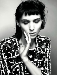 Rooney Mara in 'Who's That Girl?'  Photographer: Glen Luchford  Dress: Balmain S/S 2012  Dazed & Confused January 2012